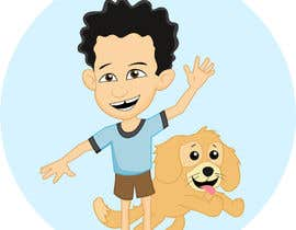 nº 3 pour Create custom cartoon of little boy and dog driving in a race car while they are both smiling par Thabsheeribz