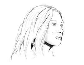 nº 10 pour Black and White drawing of a girl face par arthur2341