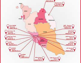 nº 31 pour Infographic Map par rahulsagardesign