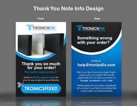 nº 8 pour E commerce Order Thank You Notes par lowie14