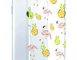 nº 23 pour Flamingo and pineapple repeating pattern for a phone case. par wandarose