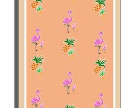 nº 19 pour Flamingo and pineapple repeating pattern for a phone case. par FreakyDesigns