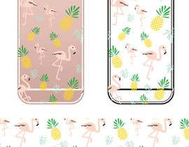 nº 22 pour Flamingo and pineapple repeating pattern for a phone case. par yuntaraquel