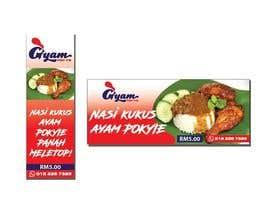 nº 35 pour Banner + Bunting for - Nasi Kukus Ayam Pokyie par Flawira