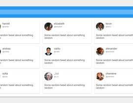 nº 5 pour Design a Website Mockup - Twitter Feed Dashboard par Shmishtopher