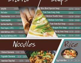 nº 14 pour Designing a Chinese take away menu par anasser306
