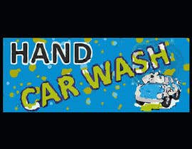 #8 for I need help designing a Sign/banner for a Hand CarWash. by ikramhossain849