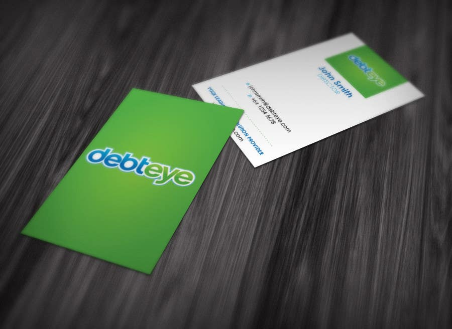 Contest Entry #34 for Business Card Design for Debteye, Inc.