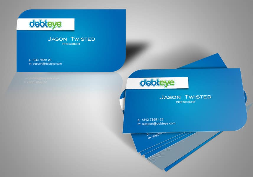 Contest Entry #24 for Business Card Design for Debteye, Inc.