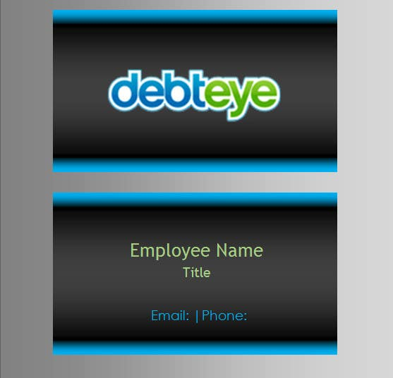Contest Entry #131 for Business Card Design for Debteye, Inc.