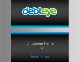 #131 pentru Business Card Design for Debteye, Inc. de către CorrectComplete