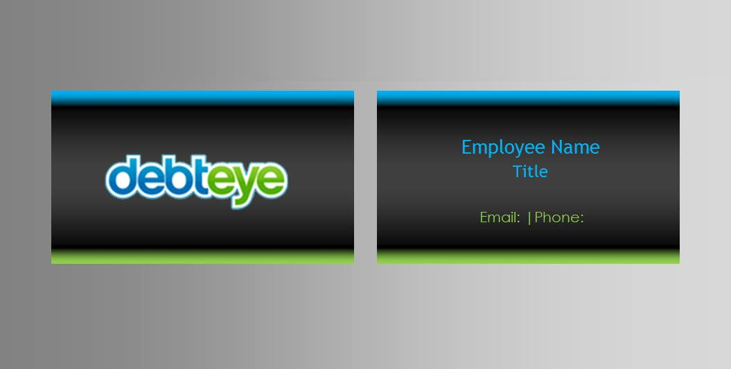 Contest Entry #130 for Business Card Design for Debteye, Inc.