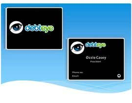 #136 para Business Card Design for Debteye, Inc. por sidfidato