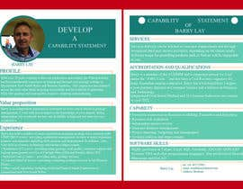 nº 10 pour Design a Flyer - Capability Statement par mdmanzurul