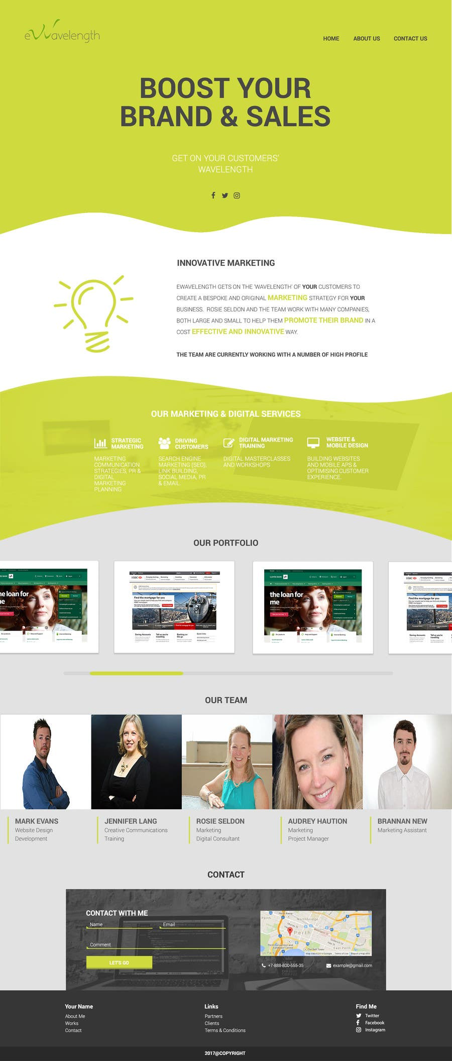 Proposition n°5 du concours Design a Website Homepage for Marketing and Digital Company
