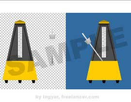 nº 4 pour Design a two part icon of a metronome par Ingyar