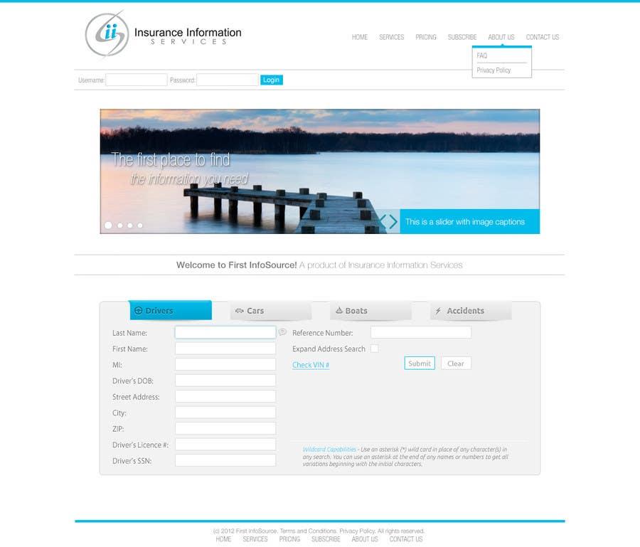Penyertaan Peraduan #15 untuk Website Design for First InfoSource