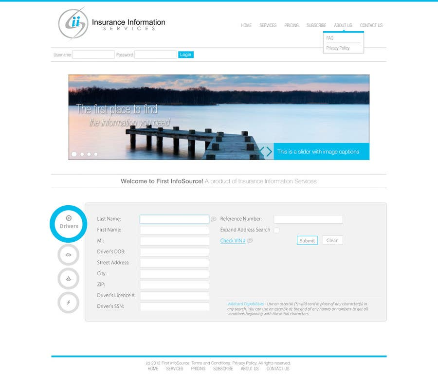 Contest Entry #                                        16                                      for                                         Website Design for First InfoSource