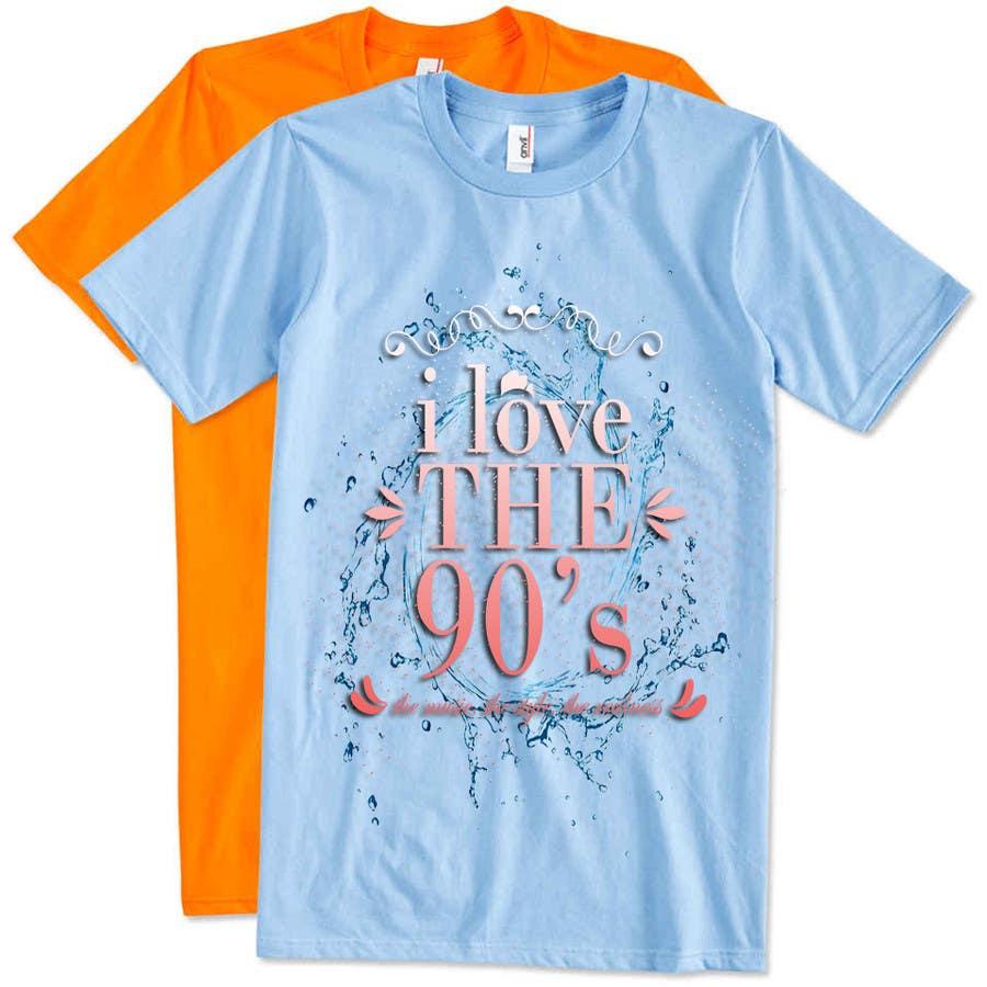 Proposition n°23 du concours Design a T-Shirt_ilovethe90s