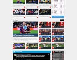 nº 37 pour Design a Mockup for Football website par nikil02an