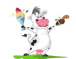 nº 2 pour Modify Illustration of Cow Ice Cream Mascot par Bluepix