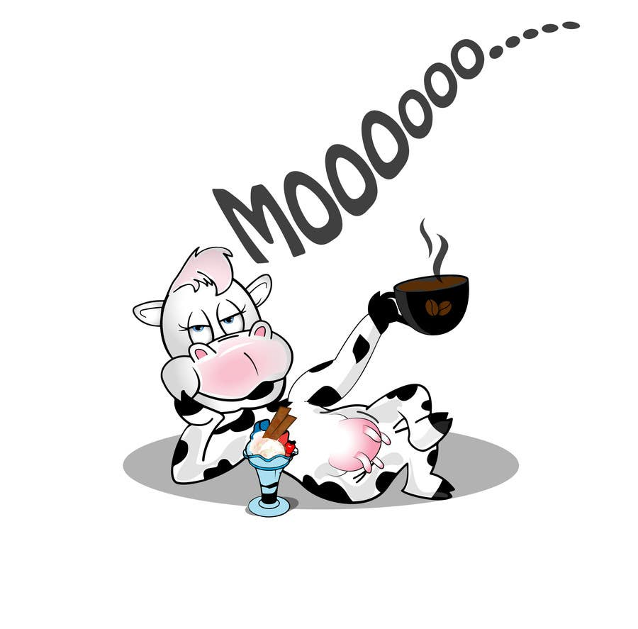 Proposition n°20 du concours Modify Illustration of Cow Ice Cream Mascot