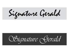nº 27 pour Design A Signature Logo par Based24