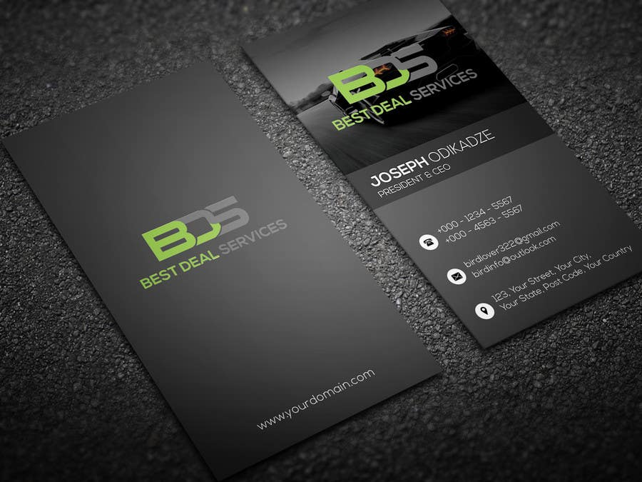 Entry #1 by mhtushar322 for Chauffeur business card | Freelancer
