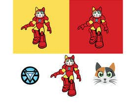 nº 5 pour Design a Logo (Iron Man Cat) par chandraprasadgra