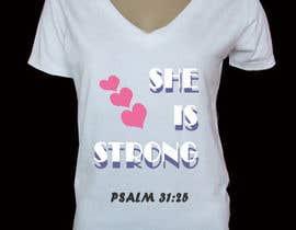 nº 55 pour Design a T-Shirt -  She is Strong par pallameena
