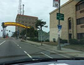 nº 8 pour Photoshop a public city sign that goes over the street par vivekdaneapen