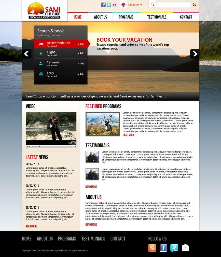 Contest Entry #                                        44                                      for                                         Website Design for Sami Culture (Joomla!)