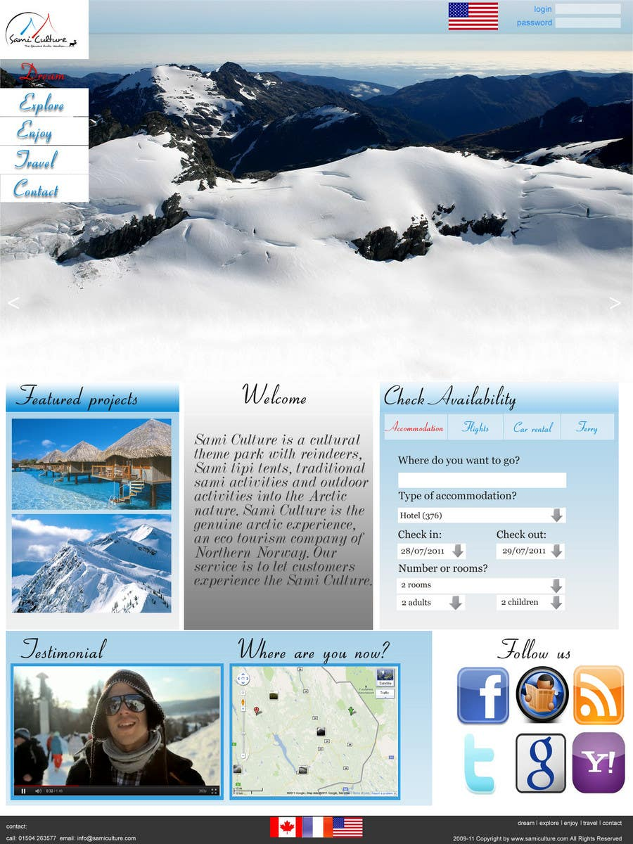 Contest Entry #                                        48                                      for                                         Website Design for Sami Culture (Joomla!)