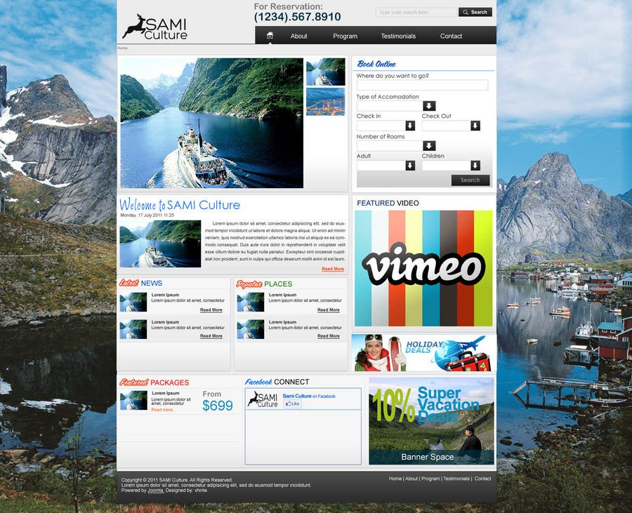 Contest Entry #55 for Website Design for Sami Culture (Joomla!)