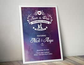 nº 28 pour WEDDING INVITE - SAVE THE DATE par wephicsdesign