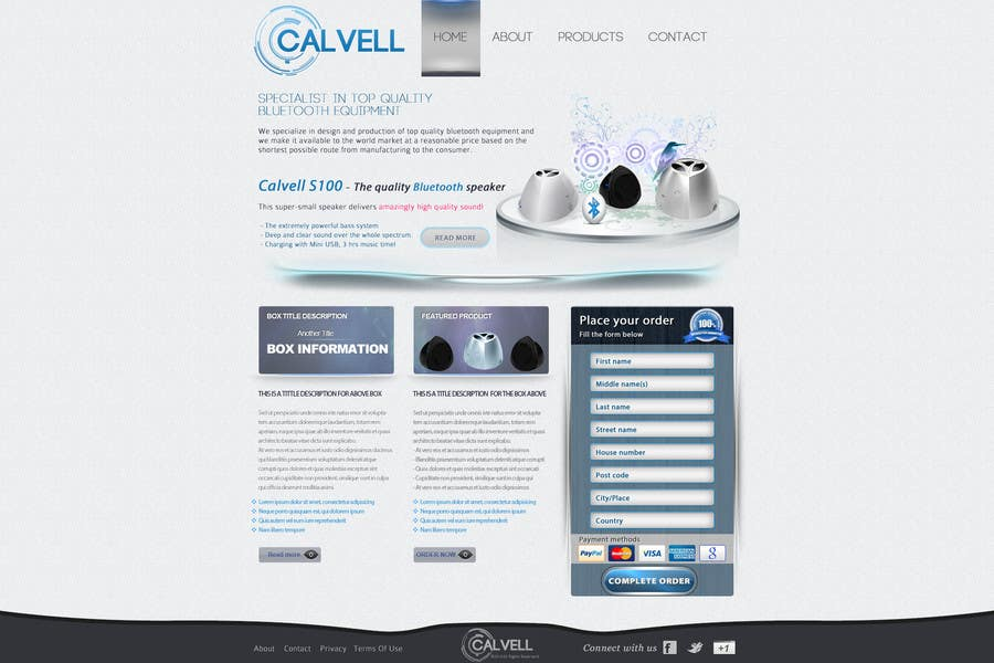 #83 for Website Design for Calvell.com by Kindland