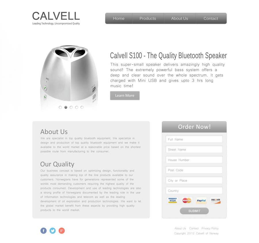 Contest Entry #68 for Website Design for Calvell.com