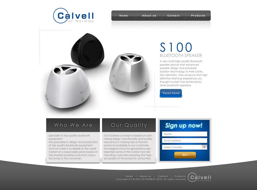Website Design Contest Entry #12 for Website Design for Calvell.com
