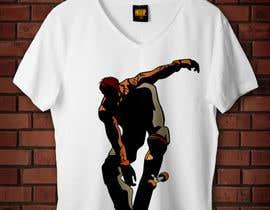 nº 17 pour Skate Related T-shirt design par badreouzzine
