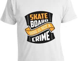 nº 4 pour Skate Related T-shirt design par saurabh295