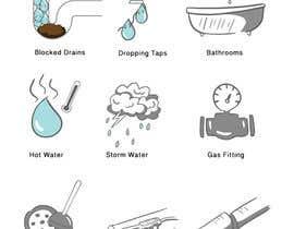 nº 11 pour Small illustrations for a plumbing company par wandarose