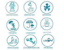 nº 9 pour Small illustrations for a plumbing company par rodelashanta