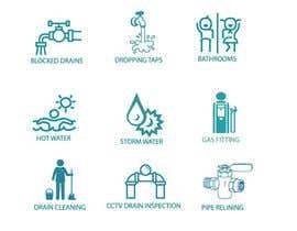 nº 14 pour Small illustrations for a plumbing company par rodelashanta