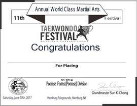 nº 19 pour Martial Arts Tournament Certificate par jewelstd