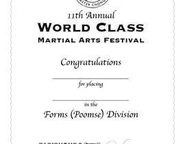 nº 26 pour Martial Arts Tournament Certificate par SylvieLiu