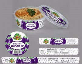 nº 4 pour Create Print and Packaging Designs for Hawaii Farm Eggplant Hummus (babaganouch) Deli Container par SurendraRathor