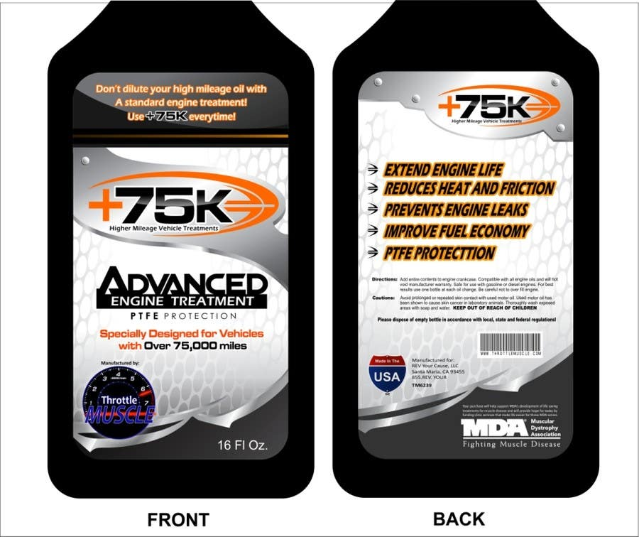#64 for Print & Packaging Design for +75K High Mileage Engine Treatment by arteq04
