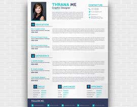 nº 32 pour I need someone to deign an easily editable resume par thranawins