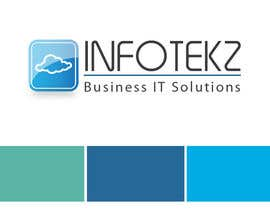 #317 untuk Logo Design for INFOTEKZ  (Please Try 3D Logo/Font) : Please see attached vector image oleh RamonDNC