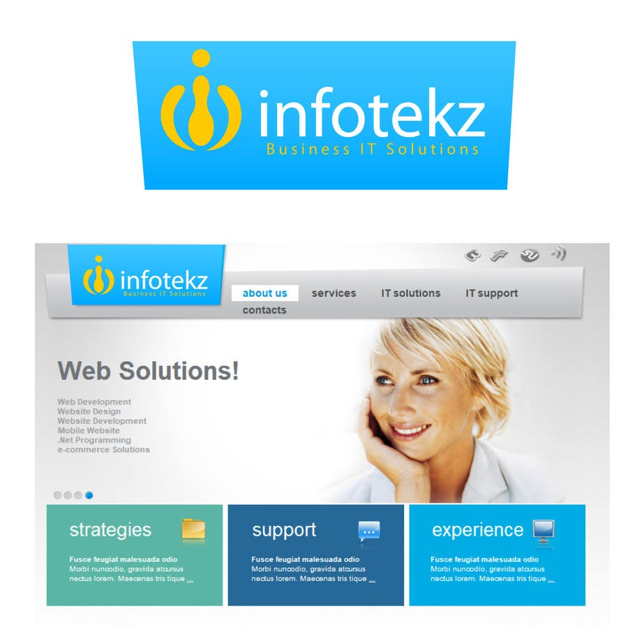 Logo Design Contest Entry #11 for Logo Design for INFOTEKZ  (Please Try 3D Logo/Font) : Please see attached vector image